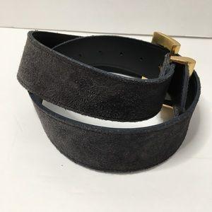 Express Accessories - Black Suede Belt